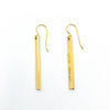 14k Gold Filled Ball Pein Bar Earrings by Judie Raiford