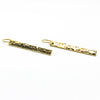 side angle view of 14k Gold Filled Ball Pein Bar Earrings by Judie Raiford