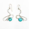 Sterling Touch of Romance Earrings with Turquoise by Judie Raiford