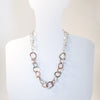 short version on mannequin of Five Metal Necklace by Judie Raiford