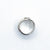 Sterling and 22k Pillow Square Wave Texture Ring by Judie Raiford