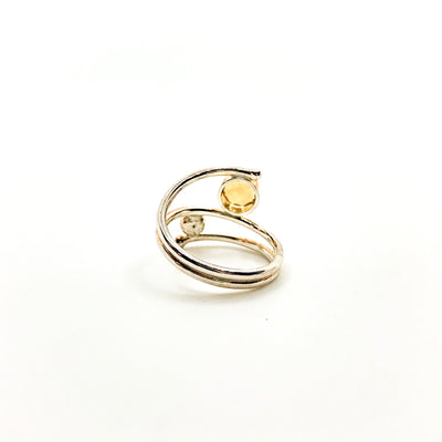 Sterling Bypass Ring with Citrine