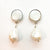 Sterling Irina Earrings with White Pearls by Judie Raiford