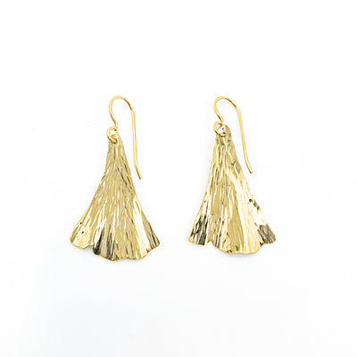 14k Gold Filled Ginkgo Ra Ra Earrings by Judie Raiford