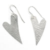 Sterling Silver Textured Heart Earrings by Judie Raiford