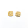 14k Gold Filled Mom's Hammered Square Stud Earrings by Judie Raiford