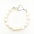 Sterling White Small Baroque Pearl Bracelet with Heart Clasp by Judie Raiford