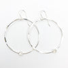 Sterling Orbit Earrings with moonstone by Judie Raiford