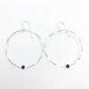 Sterling Orbit Earrings with Black Onyx by Judie Raiford