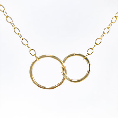 detail view of 14k gold fill Maggie Necklace by Judie Raiford