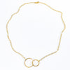 flat lay view of 14k gold fill Maggie Necklace by Judie Raiford