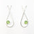 Sterling Jody Looped Earrings with Peridot by Judie Raiford