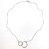 flat lay view of sterling silver Double Twist Maggie Necklace by Judie Raiford