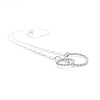 side angle view of sterling silver Double Twist Maggie Necklace by Judie Raiford