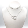 sterling silver Double Twist Maggie Necklace by Judie Raiford on mannequin bust