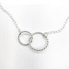 detail view of sterling silver Double Twist Maggie Necklace by Judie Raiford