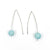 Sandblasted Peruvian Opal Earrings by Judie Raiford