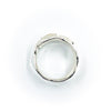 over top view of size 10.5 Men's Sterling and 22k Anticlastic Deckled Band Ring by Judie Raiford