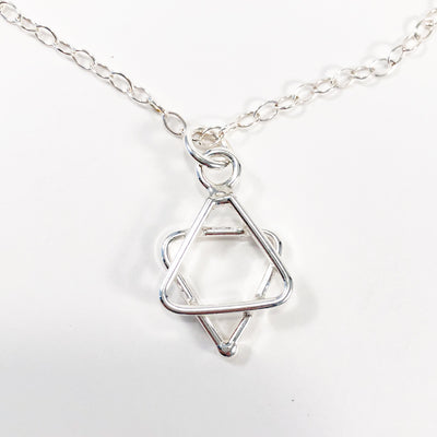 Small Sterling Star of David Necklace