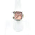 size 8.5 Sterling & 24k Pink Tourmaline and Rhodolite Garnet Ring by Judie Raiford on white ring display stand