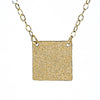 detail of pendant view of 14k Gold Filled Mom's Hammer Square Necklace by Judie Raiford