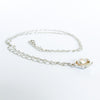 side angle view of Water Drop Pearl Necklace by Judie Raiford