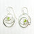 Sterling Mini Spiral Earrings on French hook with Peridot by Judie Raiford