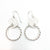 sterling silver Boiler Twister Hoop Earrings by Judie Raiford