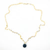 Black Onyx and 14k Gold Filled Necklace by Judie Raiford