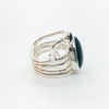 right side view of eft side view of Sterling Wrap Ring with Oval Black Onyx by Judie Raiford