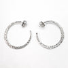 sterling silver medium Forged Hoops by Judie Raiford