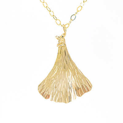 14k Gold Filled Ginkgo Necklace