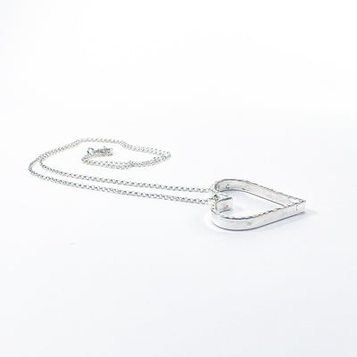 angled side view of Small Jane Heart Necklace by Judie Raiford
