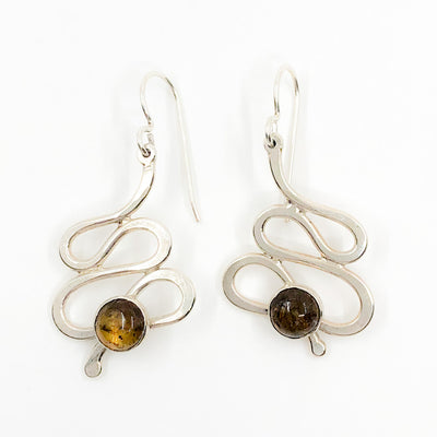 Sterling Touch of Romance Earrings with Smoky Quartz by Judie Raiford