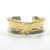 "3/4"" 14k Gold Filled 3/4"" Ball Pein Anticlastic Cuff by Judie Raiford"