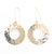 14k Gold Filled Ball Pein Donut Earrings on handmade wire by Judie Raiford