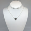 sterling silver Stationary Heart Layering Necklace by Judie Raiford on mannequin