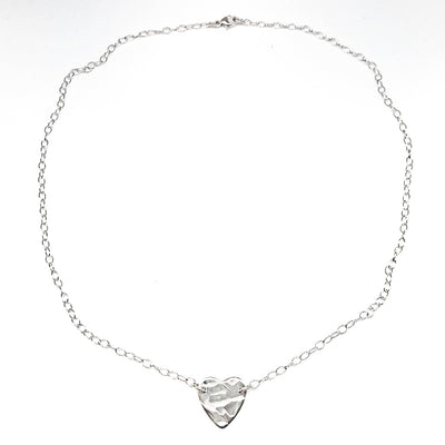 sterling silver Stationary Heart Layering Necklace by Judie Raiford