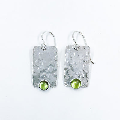 Bubble Up Earrings with Peridot by Judie Raiford