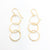 14k Gold Filled Hammered Triple Circle Earrings by Judie Raiford