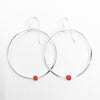 Sterling Orbit Earrings with carnelian  by Judie Raiford