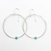 Sterling Orbit Earrings with turquoise by Judie Raiford