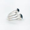 right side view of Sterling Wrap Ring with Black Onyx by Judie Raiford