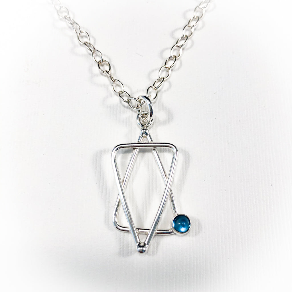 Star of David Necklace with Blue Topaz