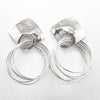 polished Sterling silver Square Top Slinky Post Earrings by Judie Raiford