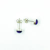 over head view of 6mm Amethyst Cabochon Stud Earrings by Judie Raiford