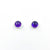 6mm Amethyst Cabochon Stud Earrings by Judie Raiford