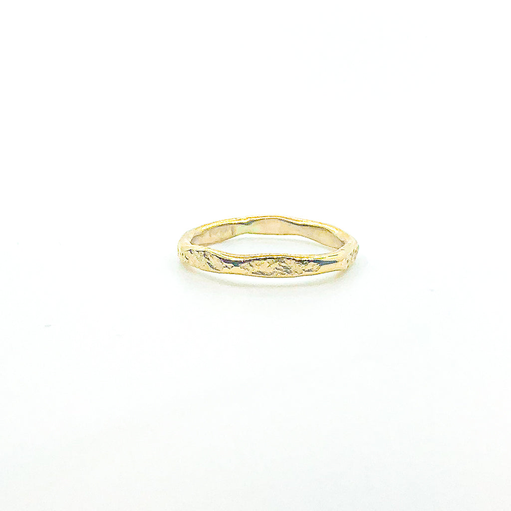 14k Gold Filled Hammered Stack Ring by Judie Raiford