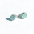 Aquamarine Cabochon Stud Earrings by Judie Raiford