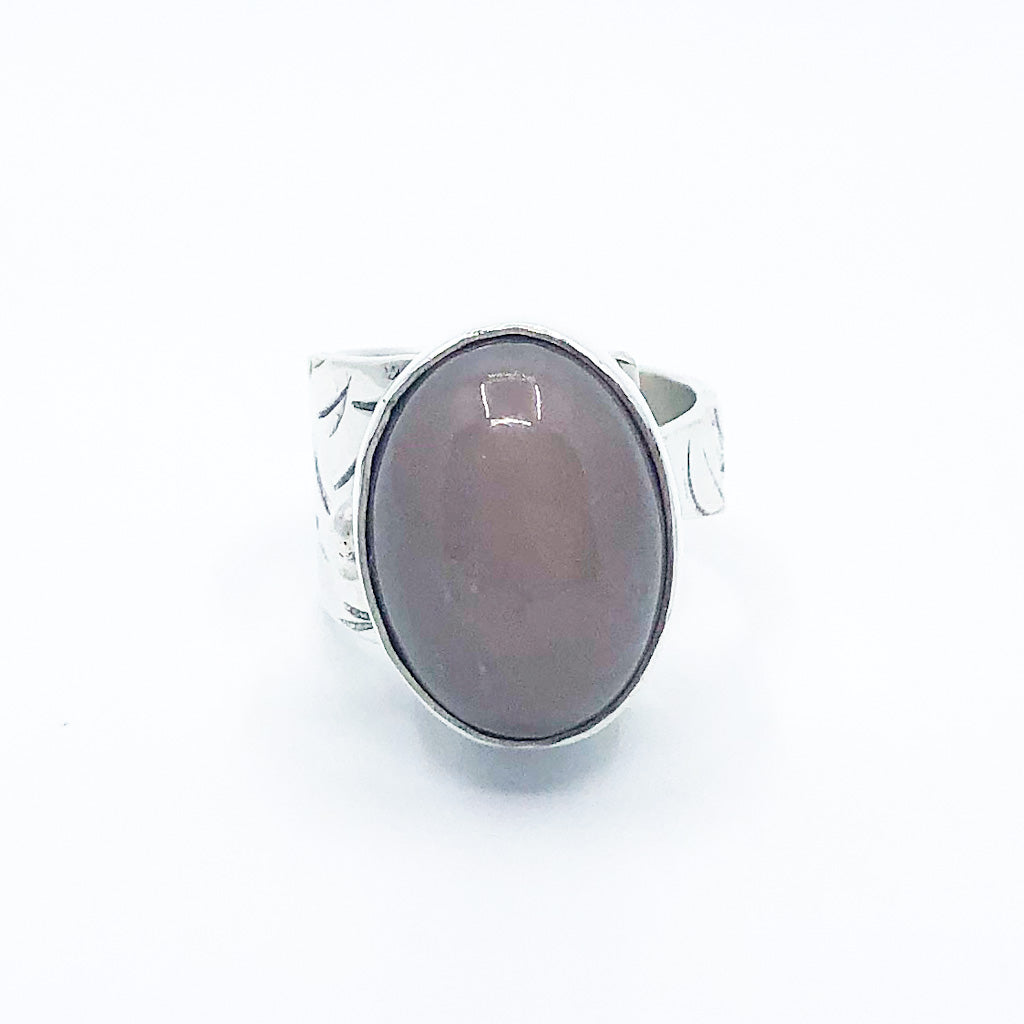 Sterling Latte Moonstone Ring